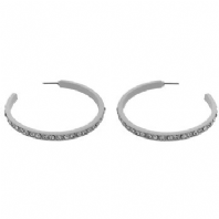 Clear stone hoop earrings (Code 2021)
